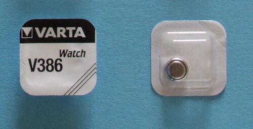 15 x VARTA Uhrenbatterie V386 SR43SW 115mAh 1,55V SR43 AG12 Knopfzelle