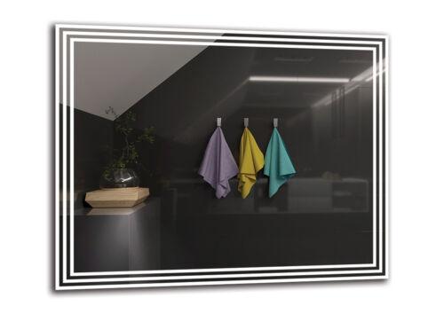 PREMIUM M1ZP-53 Badspiegel mit LED BeleuchtungGrößenvariantenWandspiegel