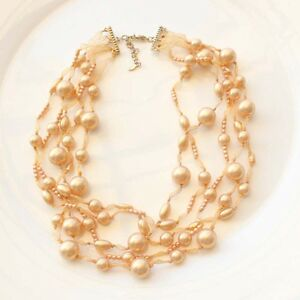16-034-New-Monet-Faux-Pearl-Strands-Necklace-Best-Gift-Fashion-Women-Party-Jewelry