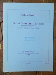 Philippe Sagnier Petite Suite Armoricana Per Flauto E Arpa Spartito Leduc