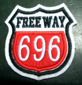 Aufnaeher-Patch-American-Highway-ROUTE-Interstate-696-Freeway-USA