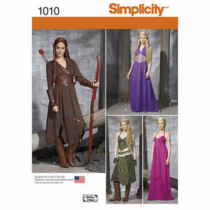 Simplicity-Sewing-PATTERN-1010-Elven-Fantasy-GOT-Cosplay-Dress-Costumes