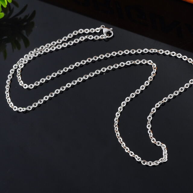 1PC Fashion Stainless Steel Cross Chain Polishing Necklace 51cm