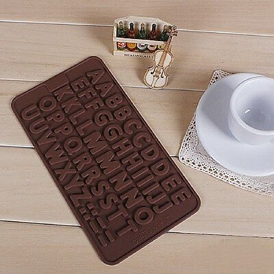 ALPHABET LETTER MOULD MOLD SILICONE CHOCOLATE ICE JELLY SOAP CAKE CUPCAKE