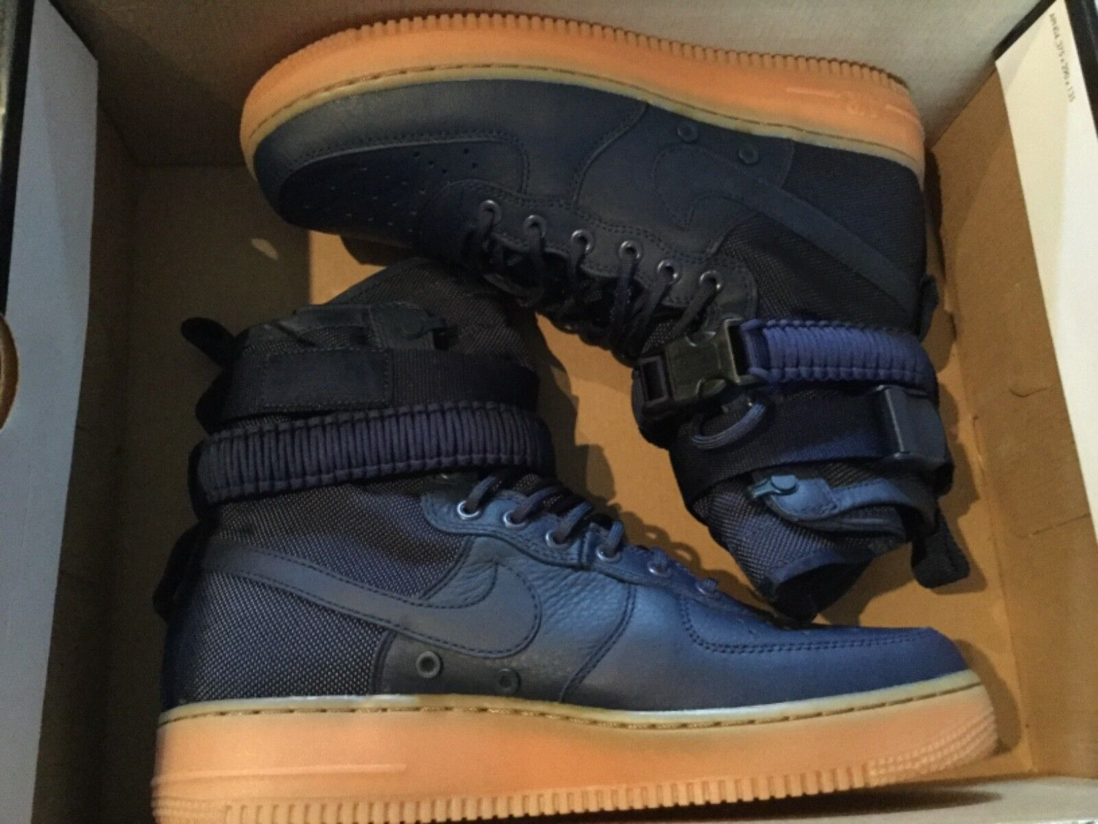 New Nike SF Air Force 1 Midnight Navy bluee Gum AF1 shoes  864024-400 Sz 10 mens