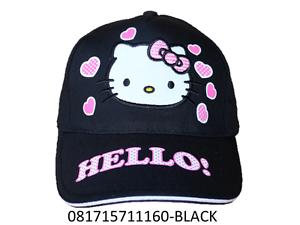 Image is loading Sanrio-Hello-Kitty-Black-One-Size-Baseball-Cap- a14937a8cc09