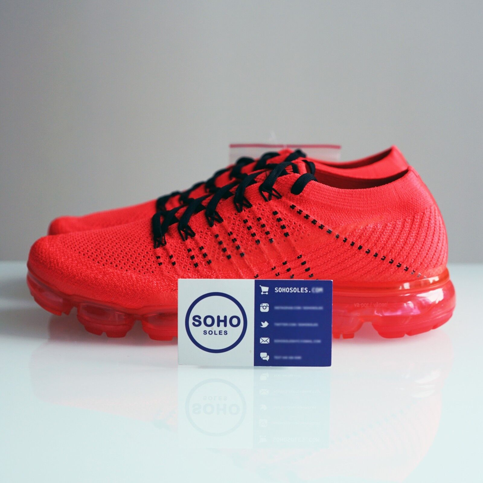 CLOT X NIKE AIR VAPORMAX FLYKNIT AA2241006 CRIMSON RED BLACK - SIZE 5.5-11