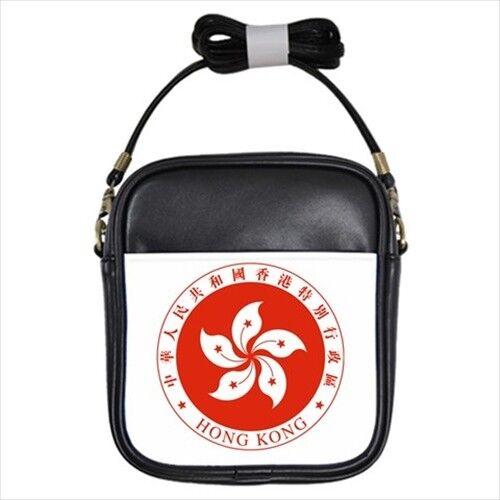 Emblem of Hong Kong Leather Sling Bag Crossbody Shoulder Tabard Surcoat