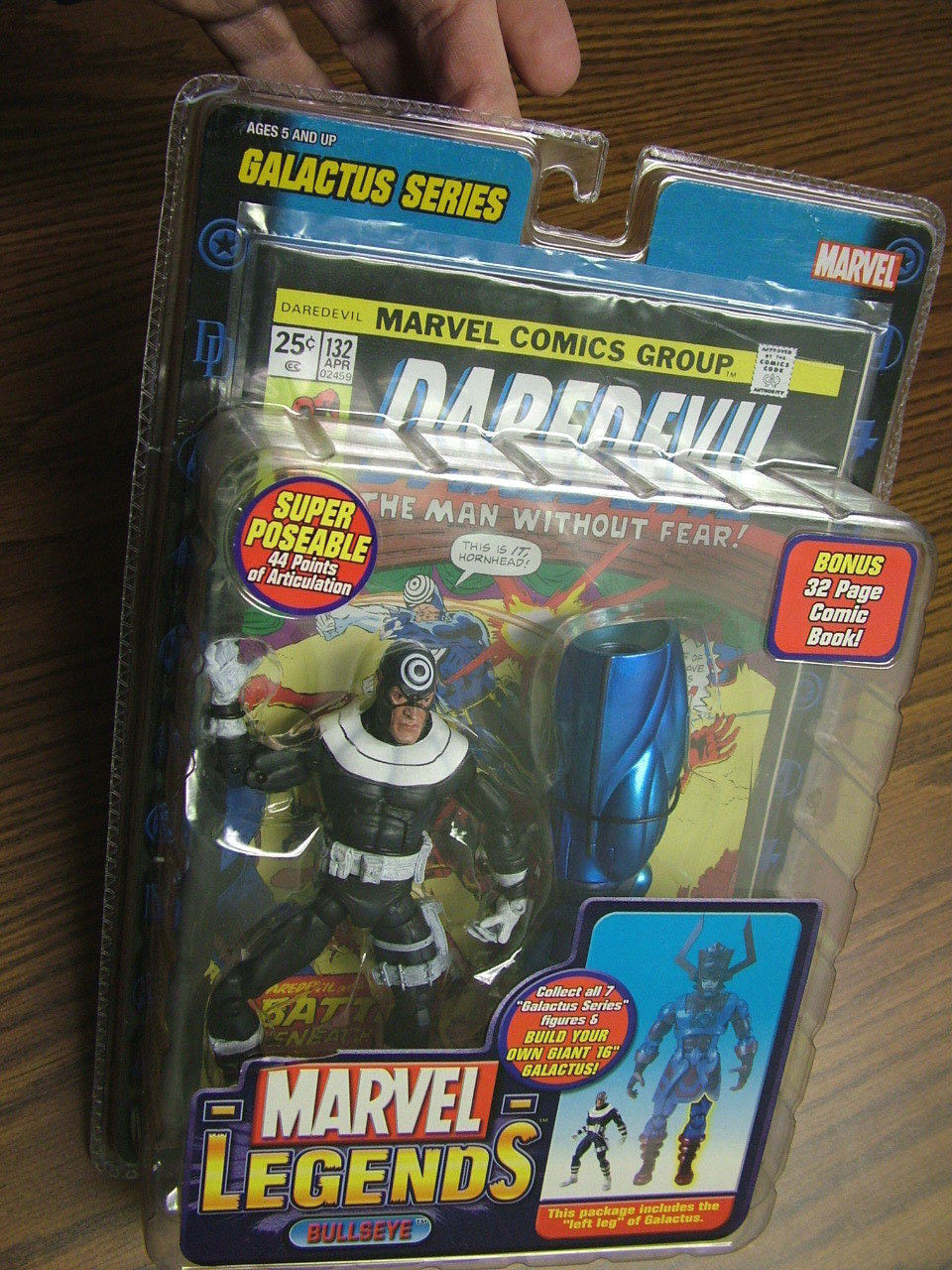 Marvel Legends  Bullseye w  44 points of articulation - Galactus Series + comic