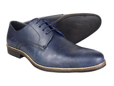 RED TAPE Shannon Azul Marino Hombre Zapatos de vestir de cuero