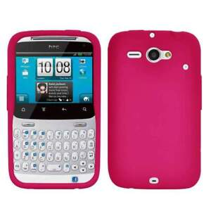 AMZER-Silicone-Skin-Jelly-Case-Cover-For-HTC-ChaCha-Status-Hot-Pink