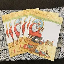 11 Sheets Of Paper Stationary Fold A Note Santa Claus Doll