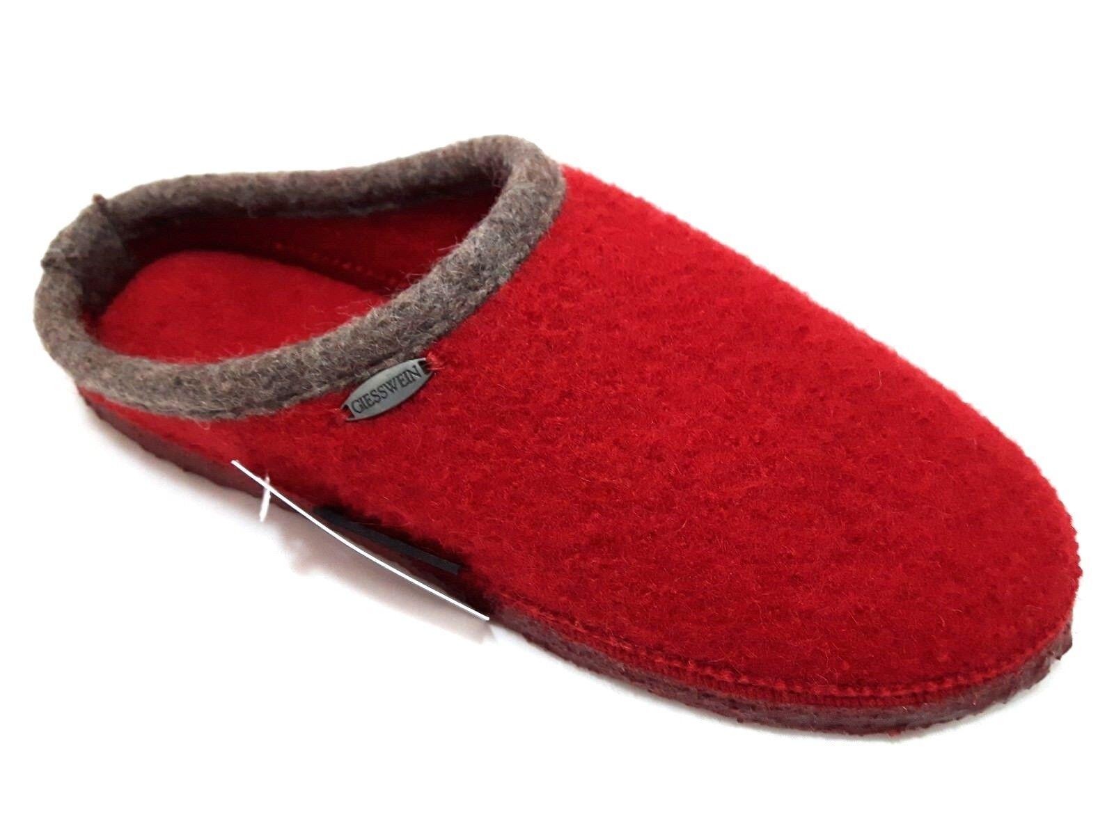 GIESSWEIN DANNHEIM ciabatte pantofole rosso kirsche lana donna uomo unisex