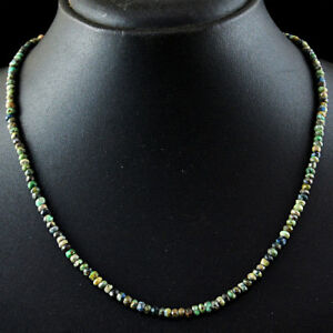 65-00-Cts-Natural-Round-Shape-Turquoise-Faceted-Beads-Single-Strand-Necklace