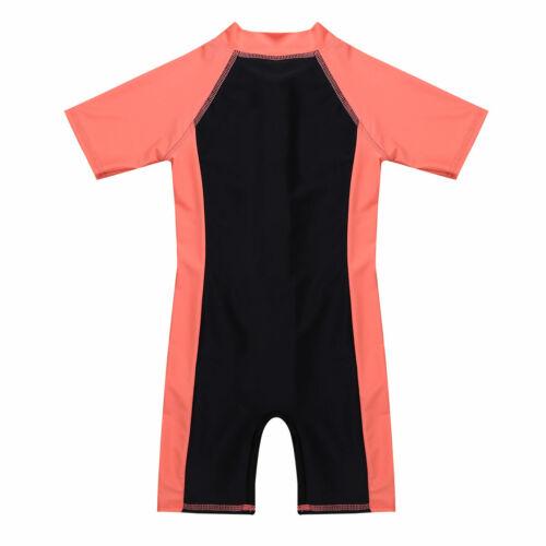 Swimwear Bathers Costume Wetsuit Kids Boys Girls One Piece Zipper Swimsuit UV50