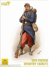 HAT 8148 WW1 FRENCH INFANTRY. EARLY WAR. 1/72 SCALE UNPAINTED PLASTIC FIGURES