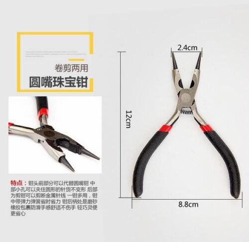 Mini Pliers Long//Round//Flat Nose Diagonal Bent End Cutting Set DIY Craft Tools