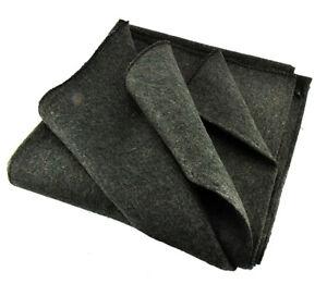 3 Lb Wool Blanket Throw Camping Emergency Survival Warm Shelter Padding GREEN