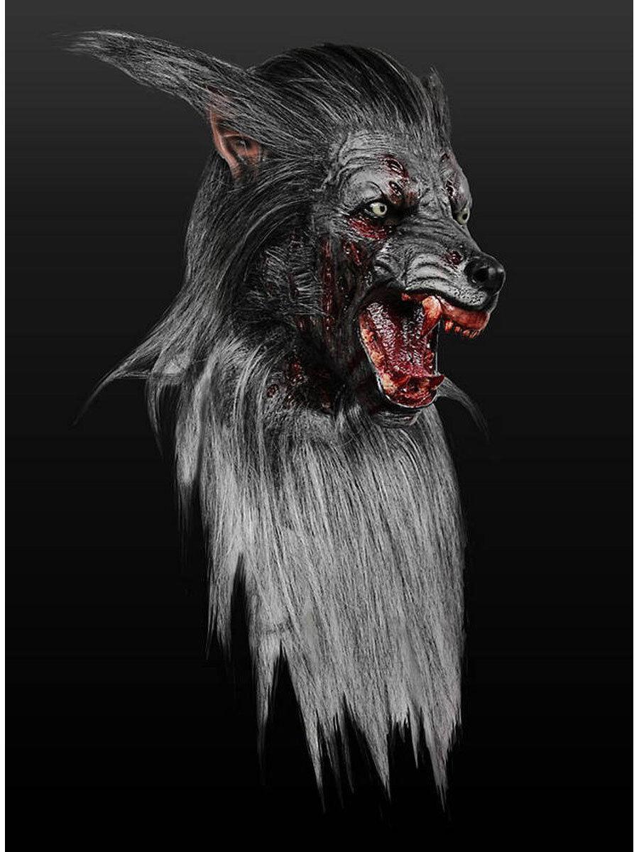 Masque pour les adultes  zombiewolf  latex universel taille d'horreur Costume