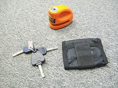 Bully Locks Lil Bully 10mm Orange Motorcycle Securty Disc Lock