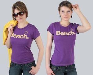 Bench-T-Shirt-034-Flock-Tee-034-lila-Groessen-XS-S