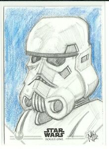 Topps-Star-Wars-Rogue-One-Series-2-Stormtrooper-Sketch-Card-by-Matt-Stewart