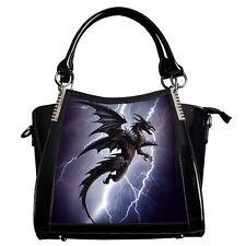 Alchemy GOTHIC Bolso Lightning Dragon 3D Negro Bolsa De Fantasía Lenticular Goth