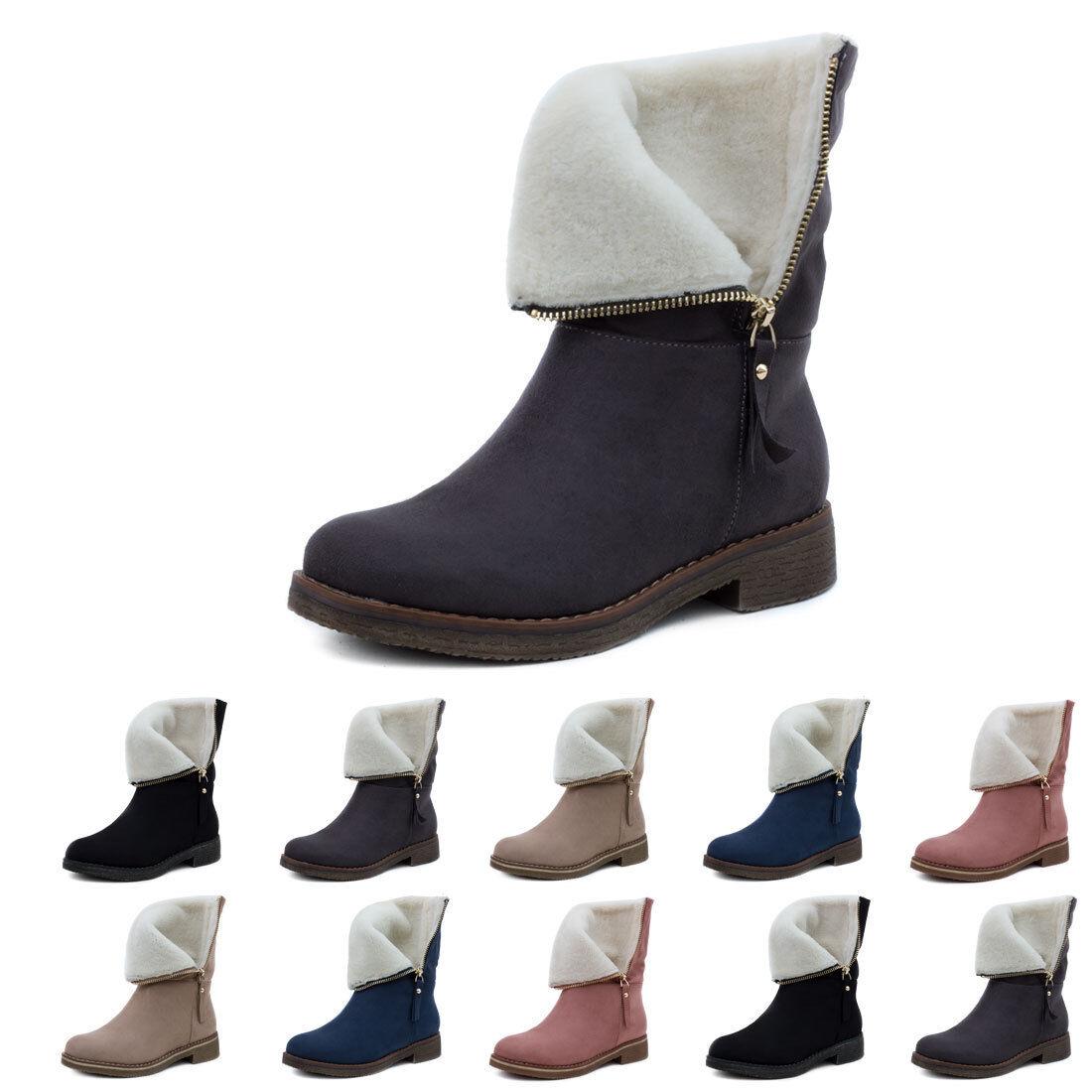 Aktuelle Damen Stiefeletten  Zapatos  botas Winter Warm gefüttert botas  6135 Braun 39 21a102