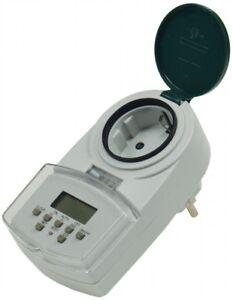 Digital semanas al temporizador para interior + exterior ip44 protección infantil 230v 2000w nuevo  </span>