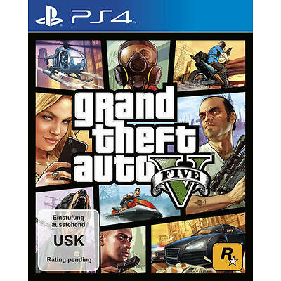 Sony PS4 Playstation 4 Spiel ***** GTA 5 Grand Theft Auto V Five *****NEU*NEW*18