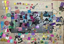Lot Accessoires Poupée Doll Monster High : Sac chaussure Robe Vetement accessory