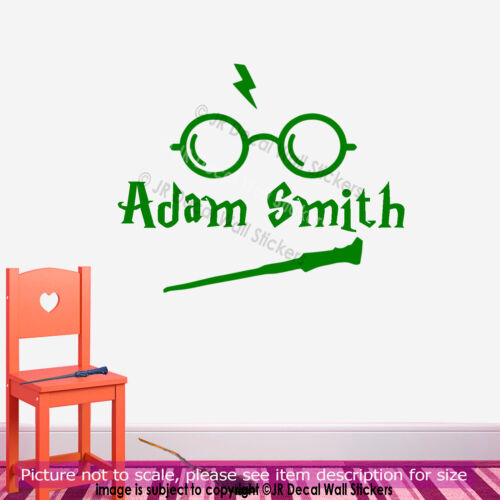 Harry Potter Glass Icon Stick Personalized Name Vinyl Decal Nursery Wall Sticker