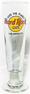 Hard-Rock-Cafe-Beer-Glass-Save-The-Planet-Los-Angeles-Tall-Flute-Pilsner-14-floz