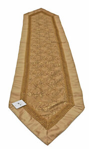 Melrose-Metallic-Gold-and-Brown-Branch-Pattern-Table-Runner-16-x-72-inches