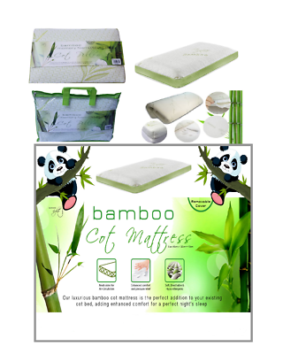 Nursery Cot Pillow Only Breathable Memory Foam Infant Bamboo Cot Bed Mattress