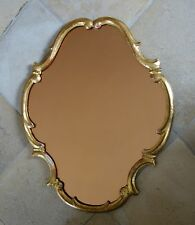Spiegel aus Holz, vergoldet, Kreidegrund - 63 x 53 cm