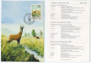 52481-Rehbock-im-Ruggeller-Riet-Maximumkarte-Liechtenstein-Vaduz-9-9-1986