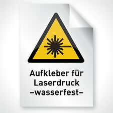 10x Laser Kopier Klebefolie weiß matt wasserfest DIN A4 Premium Profi Qualität