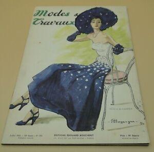Magazine Modes & Travaux juillet 1950