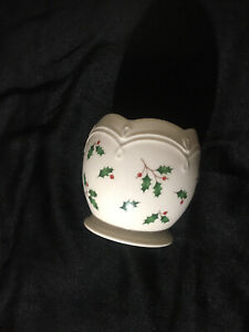 Lenox China Holly Berry Christmas Dimension Holiday Votive Candle Holder