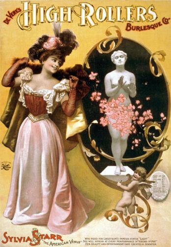 B33 Vintage DeVeres Burlesque Show Poster A1 A2 A3