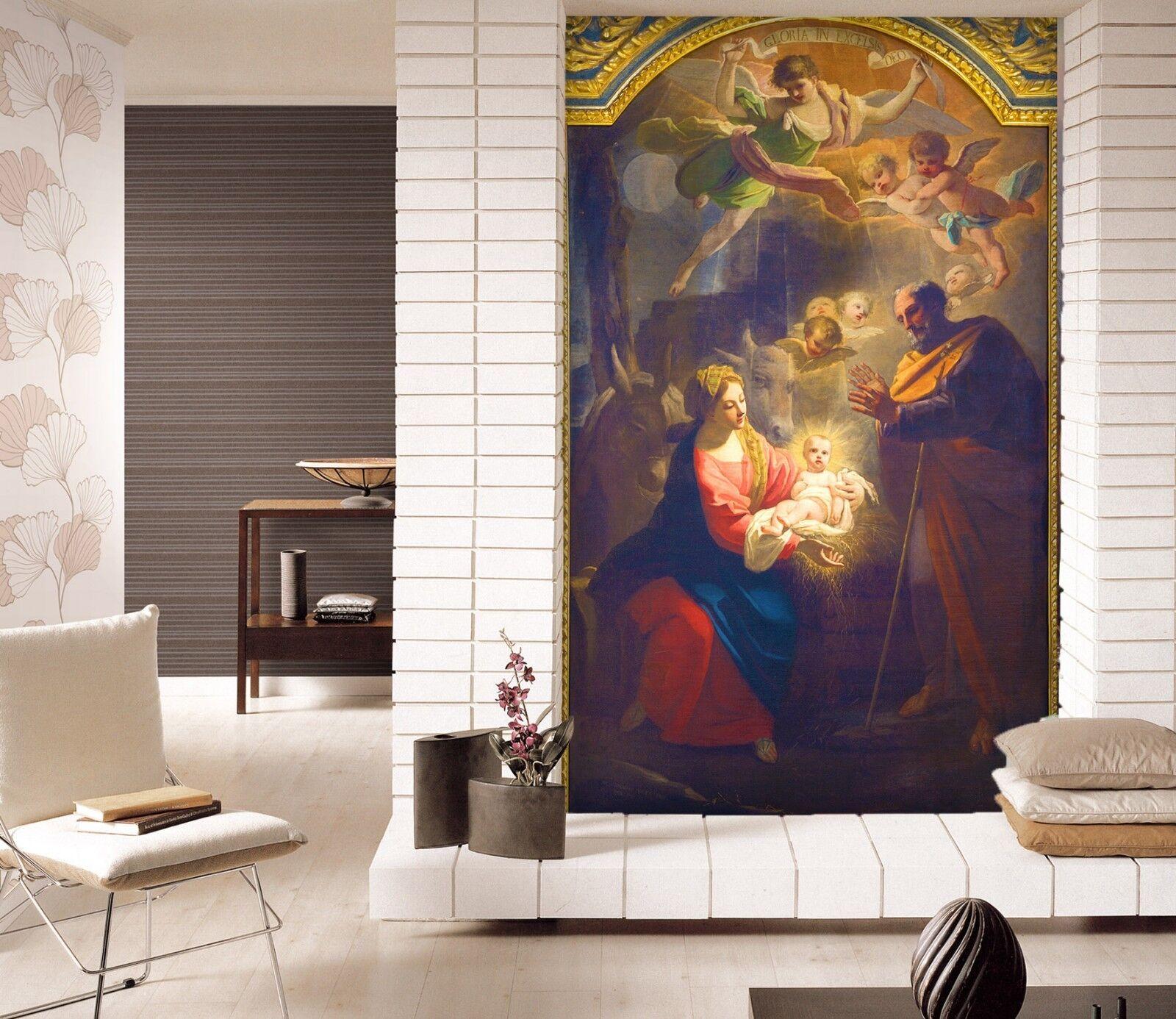 3D Angel Birth Celebration 89 Wallpaper Mural Print Wall Indoor Wallpaper Murals