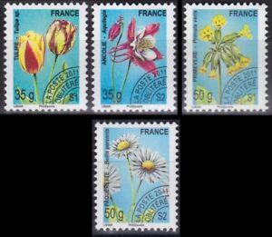FRANCE-2011-PREOBLITERES-N-259-262-Flore-Fleurs-TTB-Flowers-MNH