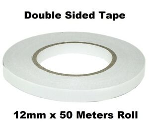 12mm-Double-Sided-Clear-Sticky-Tape-Roll-Strong-50M-Permanent-Adhesive-Sellotape