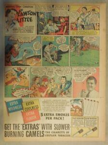 Camel Cigarrillo Anuncio: Golf Campeón Lawson Little de 1940 Tabloid Página