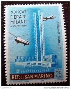 SAN-MARINO-stamp-stamp-yvert-and-tellier-air-n-107-n