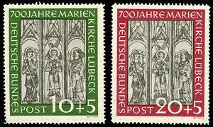Germany-1951-MARIENKIRCHE-SET-MNH-B316-17-20pf-CV-160