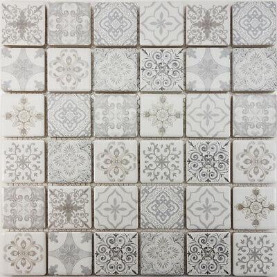 Details About Moroccan Pattern White Gray Mosaic Tile Wall Kitchen Spa Pool Backsplash