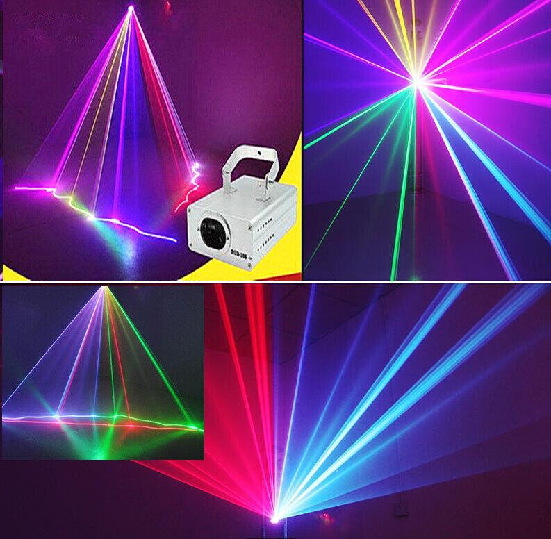 DMX 3D Effect 1050mW rot Grün Blau Full Farbe Laser Christmas Stage Lighting yz