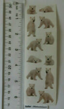 Holiday Bears Polar Bear w// scarf Grossman/'s Stickers Baby 4 Strips Mrs